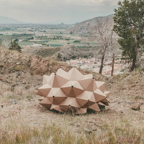 HELIX: cardboard shelter for contemplation. By Ootroe Studio.