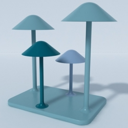 """""""Light Forest"""" by georgian designer Ia Kutateladze. A table light concept made of 4 small unified lamps."""