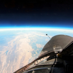 Photos from the edge of space taken from a U-2 Spy Plane by Christopher Michel.