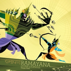 I love the illustrations in Sanjay Patel's Ramayana: Divine Loophole! Can't wait to get a copy this week!