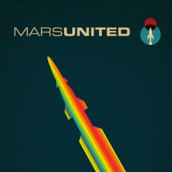 Series of four future retro posters for a fictitious airline to mars called MarsUnited by Andy Rohr.