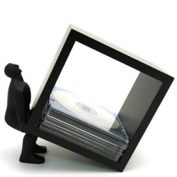 The Human CD holder.  I'd need like hundreds of these for my CD collection.  Can be ordered from wrapables.com