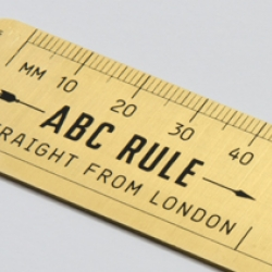 Magpie Studio invents a new type of ruler for Icon Magazine's Rethink page.
