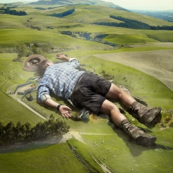 """If you're injured, you take the farm with you."" Nice little ad from the advertising agency Clemenger BBDO out of New Zealand and creative director Mark harricks. So very Gulliver's Travels of them."