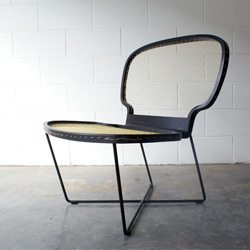 Shown at Salone Satellite in Milan last month, the Ace Chair by PUNGA & SMITH is inspired by traditional tennis rackets.