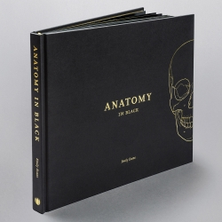 Anatomy in Black by Emily Evans  is a sophisticated and educational coffee table book for anatomy lovers done entirely in black and gold. This gorgeous book contradicts everything an anatomy text has been —elevating it as a thing of beauty and prestige.