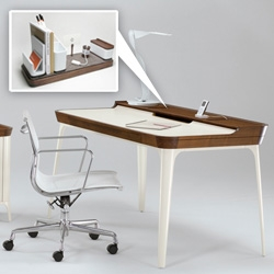 Herman Miller's new Airia desk and media cabinet were made by Kaiju Studios that did the I/O Desk Organizer we loved so much... they were practically designed for each other!
