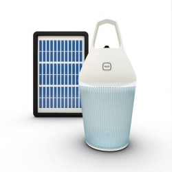 Nomad - a portable solar rechargeable lamp designed for developing countries. By Alain Gilles.
