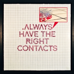 .ALWAYS HAVE THE RIGHT CONTACTS by Cheryl Chen. A two-year collection of dried contact lenses make up this piece of artwork.