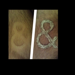 EXTREME AMPERSAND! This is what happens when a typography student gets bored. This is a Azkedenz grotesk Immac-ed on my leg.