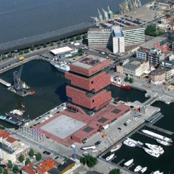 Neutelings Riedijk Architects just opened the new MAS Museum in Antwerp, Belgium. Here are images from a helicopter tour!