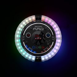 ZOOM ARQ - ARQ is a drum machine, sequencer, synthesizer, looper, and MIDI controller with a built-in accelerometer. With its wireless Bluetooth Ring Controller, you can escape the booth, move the music, and get in front of the crowd.