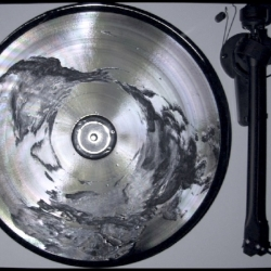 Listen to the surface of the earth transposed on vinyl record - by Art of Failure