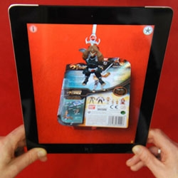 Bandai use Aurasma 3D AR technology to let children play with its Thundercats toys without having to open the box.