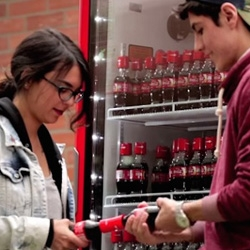 To help college freshmen break the ice on the first day of school, Coca-Cola created 'Friendly Twist' a collection of bottles that can only be opened by two people.