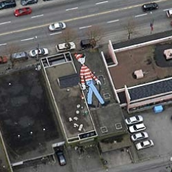 We all remember finding Wally/Waldo,  now lets find him on google earth...
