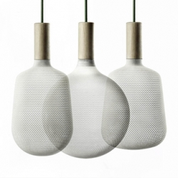 'Afillia' 3D Printed Light Pendants designed by  Alessandro Zambelli for .exnovo.