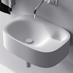 'Nivis' sink, designed by Associati Benedini for Italian brand Agape.