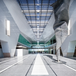 Canberra, Australia unveils its new $480m airport featuring sculptures by Andrew Rodgers.