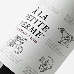 """The idea was to transmit an unpretentious """"every day feeling"""" and to open a window to the smells, sounds and impressions of a simple life in the countryside. A la Petite Ferme won a bronze at Pentawards 2009. Designed by DesignersJourney."""