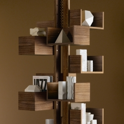 Gianfranco Frattini's 1950's Albero free-standing bookcase reenters the design atmosphere.
