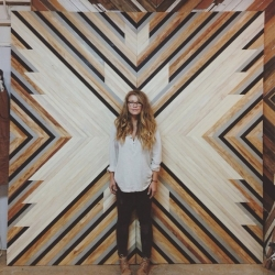 San Francisco based woodworking Artist, Aleksandra Zee who reclaims wooden laths to make intricate art panels.