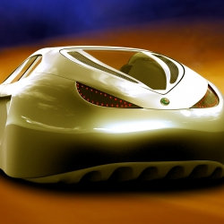 The Alfa Romeo Spix concept car . The first flying concept car from Creatix Studio.