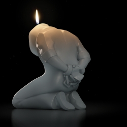 Amnesty International Freedom Candles designed by COARSE, burn away to reveal bronze statues