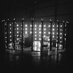 Excellent music video for White Rabbits; simple set-up of a ring of lights surrounding the band creates a stunning video.