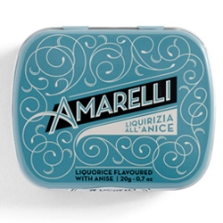 "This new packaging is the latest ""pearl"" that Angelini Design has created for centenary Calabrian confectionery company Amarelli."