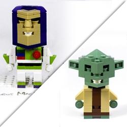 Pixar animator Angus Maclane's 'CubeDude' LEGO-toy gallery.