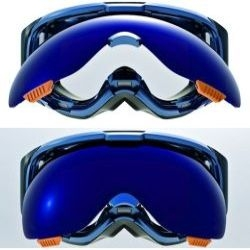 Anon ski goggles use magnetic lenses for easy swapping.
