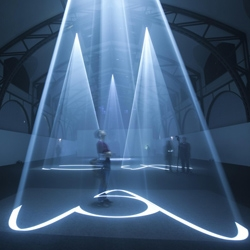 Anthony McCall's largest solo exhibit to date, 'Five Minutes of Pure Sculpture' at the Hamburger Bahnhof in Berlin now through mid-August.