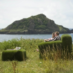 "National Trust launches open-air ""living"" rooms to entice sofa-loving Brits outdoors."