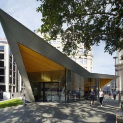 City of London Information Centre is contemporary building design was designed by Make Architect. Located to the south-west of the South Transept of St Paul's Cathedral