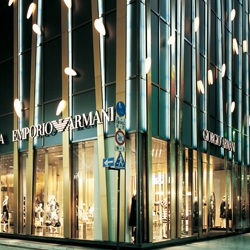 The new Armani building, in Tokyo, Japan is the image crystallization of this great designer. By Doriana and Massimiliano Fuksas