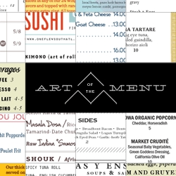 Art of the Menu, cataloguing the underrated creativity of menus from around the world.