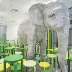 Artek celebrates the 80th anniversary of Alvar Aalto's iconic Stool 60 with a safari-style installation in Tokyo.