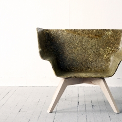 Artichoke Thistle, a lounge chair by designer Spyros Kizis, who has also created a new artichoke-based material.