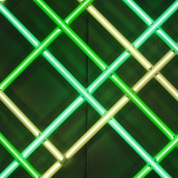 Copenhagen based textile designer, Astrid Krogh, with some stunning new light installations including 'Incitament' in Aalborg, a tapestry made from a beautifully composed raster of neon tubes in several shades of green.