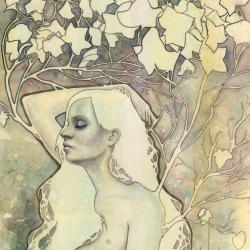 'Asunder' watercolor painting by Kelly McKernan. Limited edition print available!