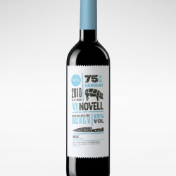 "Great packaging for the wine ""Vi Novell"" by Atipus."
