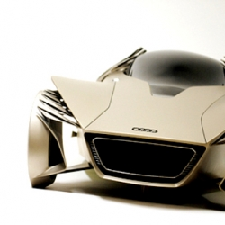 Swedish artist Jason Battersby created this Audi One concept vehicle  to symbolize and promote human achievement.