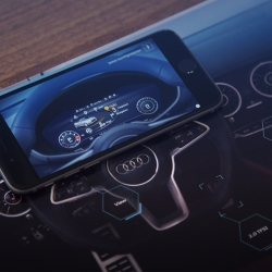 The Audi TT Brochure Hack. An augmented touch-based experience: using conductive ink, the brochure becomes an interface, letting you explore Audi's new Virtual Cockpit.