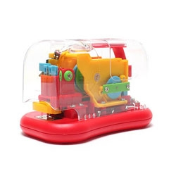 Looking like some kind of hybrid Fisher Price toy, this auto stapler with its visible internal mechanism offers a truly distinctive design for all those who happen to be stationary obsessed.