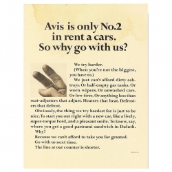 Classic art direction from Helmut Krone in this great 60s ad campaign for Avis.