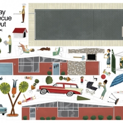 The Sunday BBQ cut-out set by Maxim Dalton.