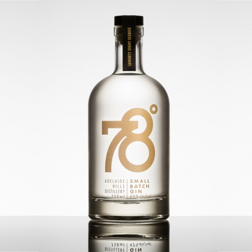 "78º is a small batch gin made by Adelaide Hills Distillery. AHD uses a unique ""column and basket"" still and only heats the still to 78.1 degrees, which is the boiling point of alcohol, leading to the most delicious gin and tonics possible."