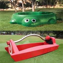 Target's Make Summer Funner campaign is awesome. Larger than life sprinkler in Houston and iconic turtle sand box in Chicago bring out the childish grin in all of us.. see the timelapse making of vids!