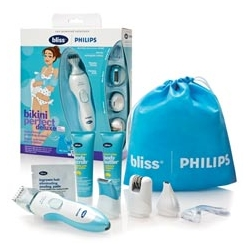 Bliss and Philips team up - Deluxe Spa-At-Home Grooming System ~ i picked one up and this cordless wet/dry grooming system with multiple attachments and fun samples ~ works great, perfect for summer...